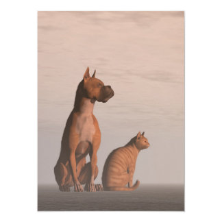 Dog and cat friendship card