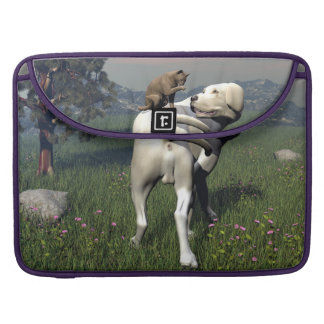 Dog and cat friendship sleeve for MacBooks