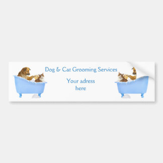 Dog and Cat Grooming Service Car Bumper Sticker