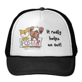 Dog and Cat Hold FOSTER Banner Hat