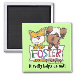 Dog and Cat Hold FOSTER Banner Magnet