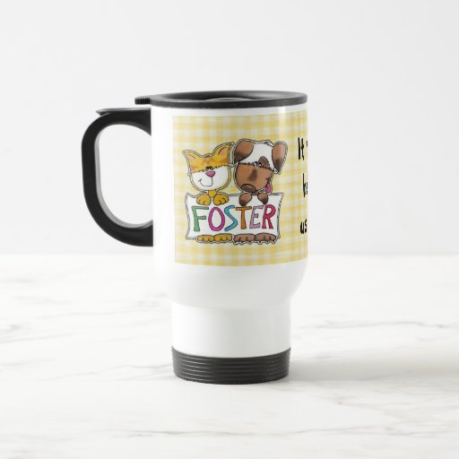Dog and Cat Hold FOSTER Banner Mug