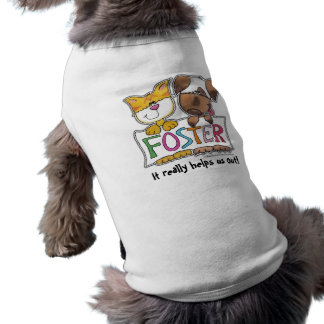 Dog and Cat Hold FOSTER Banner Tee