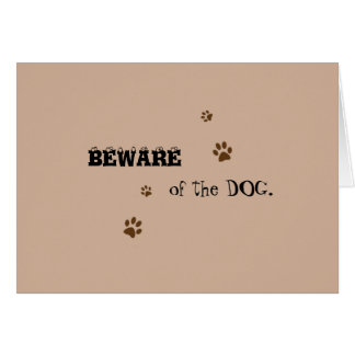 Dog and Cat humorous card