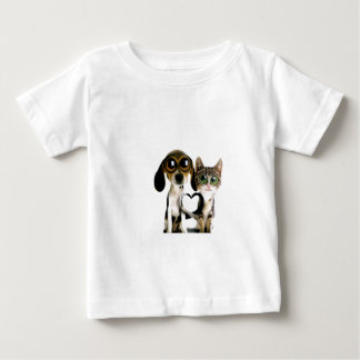 Dog and Cat in Love Baby T-Shirt