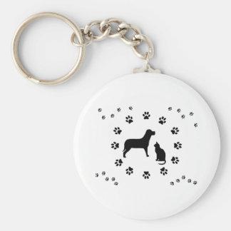 Dog and Cat Keychain