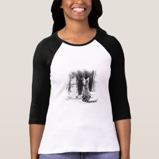Dog and Cat Looking Out Window, Pet Sympathy T-Shirt