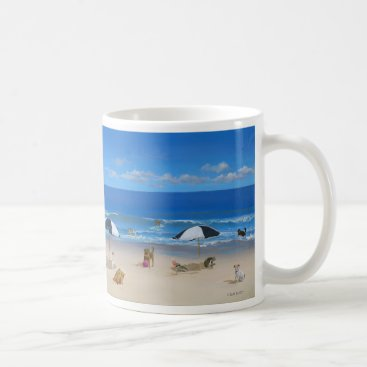 Beach Themed Dog and Cat Mug