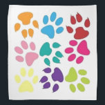 """Dog And Cat Paw Prints Bandana<br><div class=""""desc"""">Great bandana for any animal lover. Makes a nice gift for a new pet parent of a dog or cat.</div>"""