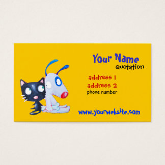 dog and cat profile card
