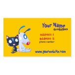 dog and cat profile card Double-Sided standard business cards (Pack of 100)