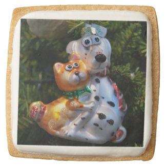 Dog and Cat Square Shortbread Cookie