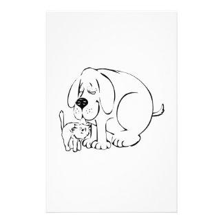 Dog and Cat Custom Stationery