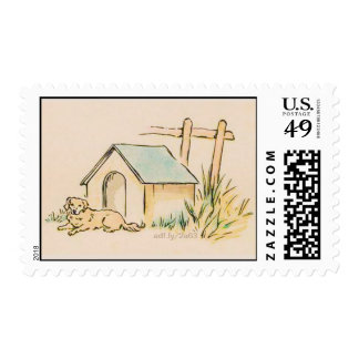Dog and Doghouse U.S. Postage Stamps