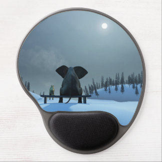 Dog and Elephant Friends Gel Mouse Pad