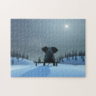 Dog and Elephant Friends Puzzle