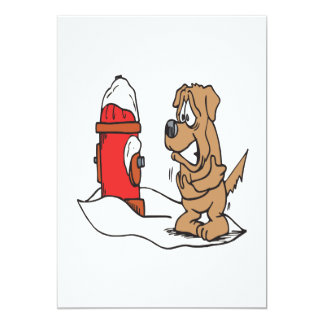 Dog And Fire Hydrant Card