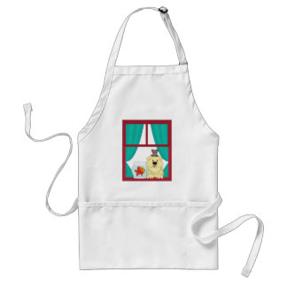 Dog and fish adult apron