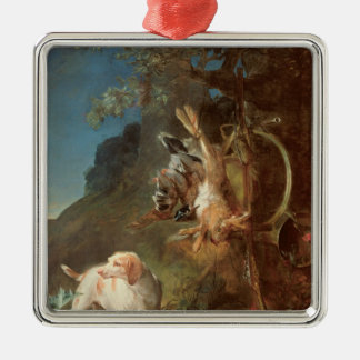 Dog and Game, 1730 Metal Ornament