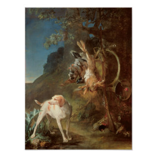 Dog and Game, 1730 Poster
