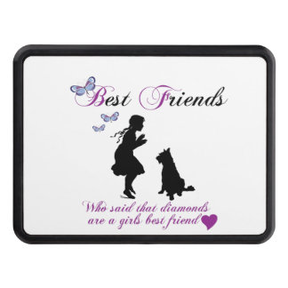 Dog and girl best friends hitch cover