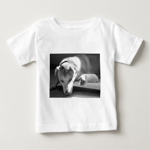 Dog and Guinea Pig Baby T-Shirt