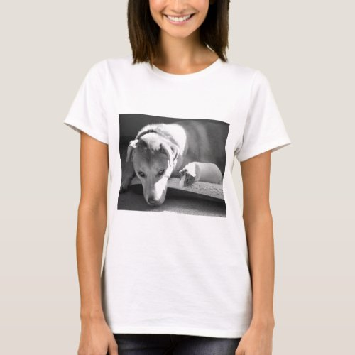 Dog and Guinea Pig Ladies Basic T-Shirt