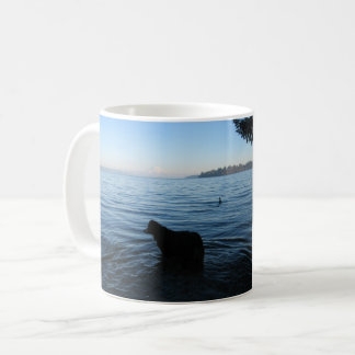 Dog and Mt. Rainier from Penrose Coffee Mug
