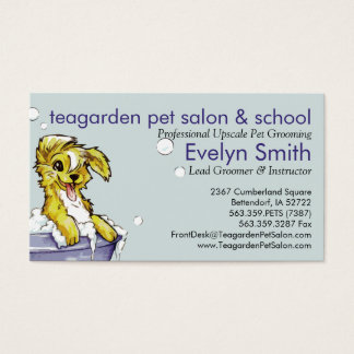 Dog and Pet Groomer - Doggie Bubble Bath Business Card