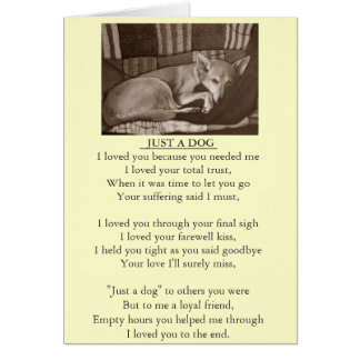 dog and pet sympathy original poem card