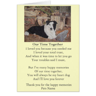dog and pet sympathy poem original customizable card