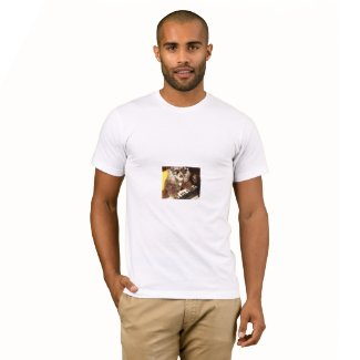 Dog and piano T-shirt