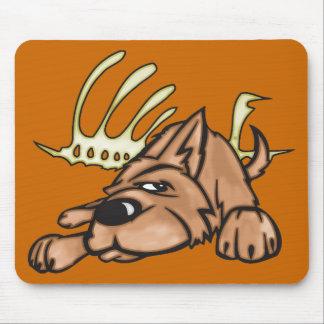 Dog and Skeleton Bones Mousepad