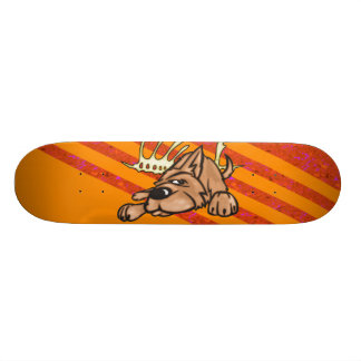 Dog and Skeleton Bones Skateboard