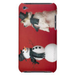Dog and Snowman iPod Touch Case-Mate Case