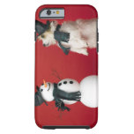 Dog and Snowman Tough iPhone 6 Case