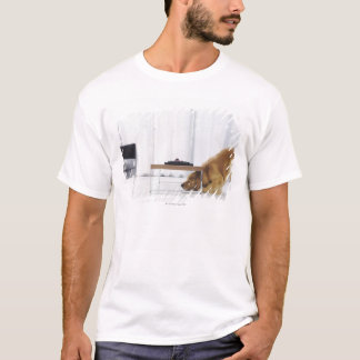 Dog and table T-Shirt