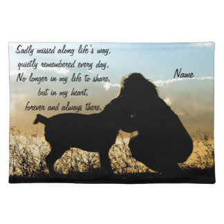 Dog and Woman in Sunset Cloth Placemat