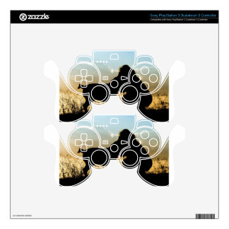Dog and Woman in Sunset Decal For PS3 Controller