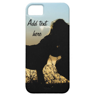 Dog and Woman in Sunset iPhone SE/5/5s Case