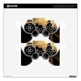 Dog and Woman Lake Silhouette PS3 Controller Skin