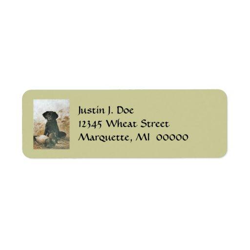 Dog Anxious Labrador & Duck Decoy Address Labels