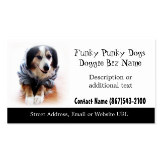 Dog Apparel & Gifts Funky Dog in Hoodie Business Card