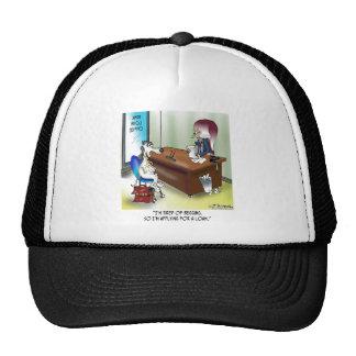 Dog Applies for a Loan Trucker Hat