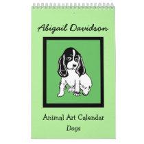 Dog Art Calendar: Illustrated by Abigail Davidson Calendar