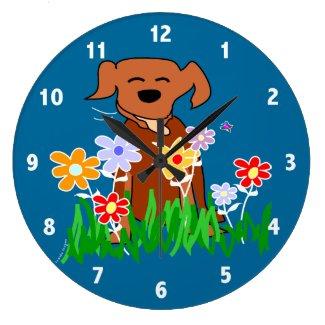Dog Art Clock