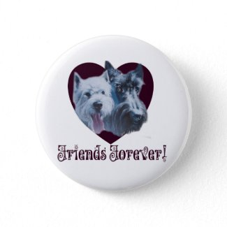 Dog Art: Friends Forever! button