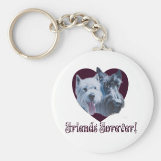 Dog Art:  Friends Forever! Key Chains