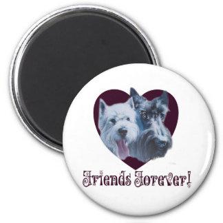 Dog Art:  Friends Forever! Magnets