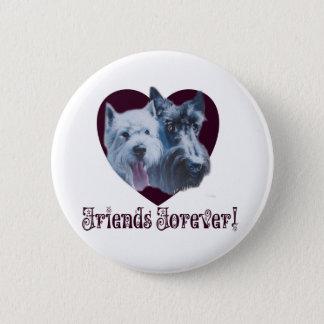 Dog Art:  Friends Forever! Pinback Button